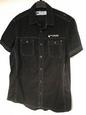 """Burton"" Men's Casual Shirt, Size M, Black, Short Sleeves"
