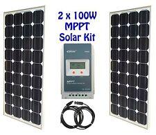 200W 2x 100W Solar Panel Kit panneau solaire MPPT charge controller régulateur