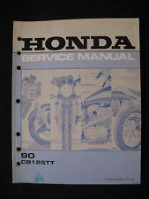 Honda 1990 CB125TT CB 125 TT Factory Service Shop Repair Manual