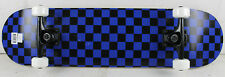 "BLEM KROWN Skateboard Black and Blue Checker 7.75"""