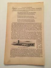 K41) Pair of Niagara Suspension Bridge Upstate New York 1860 Engraving