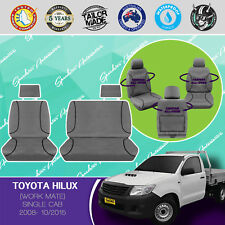 FOR TOYOTA HILUX, SINGLE CAB 2008-10/2015 CANVAS WATERPROOF TAILORED SEAT COVERS