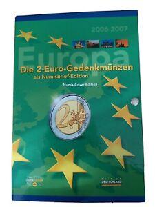 Die 2-Euro-Gedenkmünzen als Numisbrief-Edition  2006-2007