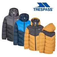 Trespass Boys Puffa Jacket Winter Waterproof School Coat Kids 2-12 Years Luddi