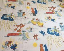 Vintage Drap Les Aristochats  Walt Disney Production ( No Mickey ) Aristocats