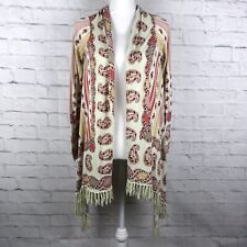 Guinevere Anthropologie Womens Multi Color Sz Small Paisley Open Front Cardigan