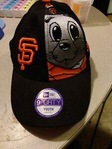 San francisco giants baseball hat. Big mascot Youth New Era Brand MLB Genuine Me