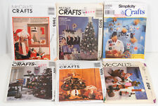 6 Christmas & Thanksgiving Craft Sewing Patterns  McCalls Simplicity Uncut