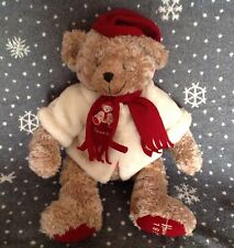 "HARRODS LARGE CHRISTMAS 1999 TEDDY BEAR 19"" TALL SOFT TOY PLUSH"