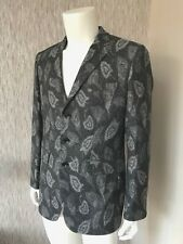 PRETTY GREEN X JIMI HENDRIX GREY WOOL BLEND PRINTED JACKET BLAZER SIZE 40 BNWT