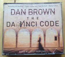 AUDIO BOOK - DAN BROWN - The Da Vinci Code -  Read by Jeff Harding on 5 x CDs