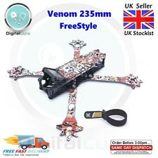 "Venom 235 5"" 235mm True-X Carbon Fiber Freestyle FPV Quadcopter Frame - NOVA"