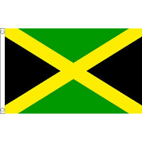 Jamaica Large Flag 8Ft X 5Ft Jamaican Rasta Country Banner With 2 Metal Eyelets