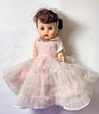 Arranbee R & B Doll Co. Littlest Angel Doll, Blue Eyes, Dark Hair, Pink Dress