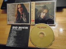 RARE JAPAN Bo Bice CD The Real Thing pop rock American Idol SIGNED ? RS Bon Jovi