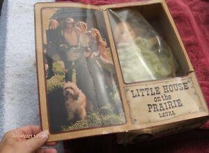 little house on the prairie doll-new-box rough shape-laura-rare-1977