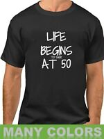 Life Begins To Suck At 50 T-Shirt 50 Years of Being 50th Birthday Shirt Bday Tee