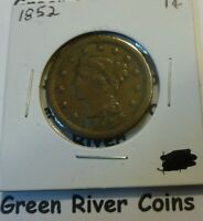1852 Large Cent   #AA52 better grade