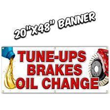 TUNE UPS OIL CHANGE BRAKES banner sign muffler auto parts repair engine light on