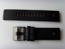 DIESEL Original Ersatzband Lederarmband DZ7334 Uhrband schwarz watch strap black