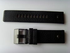 Diesel original LW pulsera de cuero dz7334 uhrband negro watch Strap Black