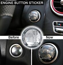 New AMG Engine Start/Stop Switch Emblem Engine Button Sticker Conver Decal
