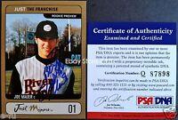 #1 JOE MAUER Signed 2002 Just The Franchise Gold Blue Auto PSA/DNA COA Autograph