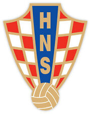 Croatia HNS Association football calcio adesivo etichetta sticker 9cm x 11cm