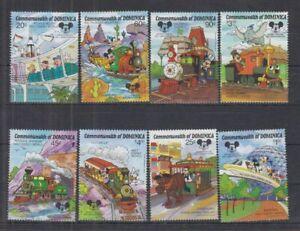 U838. Dominica - MNH - Cartoons - Disney's - Trains