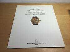Booklet IWC Schaffhausen - 1868-1993: 125 Ans d'Evolution For Une Montre - FR