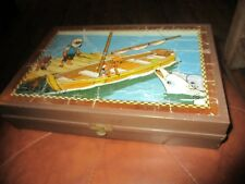 Ancien Jeu de cubes puzzle-Ortf Garnier Cornil -Oum le dauphin