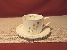 Gorham China Town & Country Line Country Flowers Pattern Cup & Saucer Set