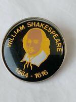 Lapel Pin William Shakespeare 1564 - 1616 Playwright Bard