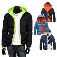 Men's Slim Casual Warm Jacket Hooded Winter Thick Coat Parka Overcoat Hoodie xue