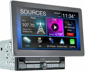 "CAR8000 Jensen 10"" TouchScreen Multimedia DVD Receiver 2 Din NEW"