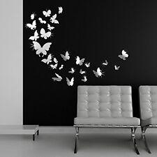 Walplus Adesivo da Parete, Motivo Family Art e Farfalle a Specchio, PVC, (k1M)
