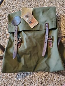 NEW w/ tags Duluth Pack Scout Backpack Olive Drab Bag Canvas Rucksack USA Made