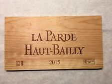 1 Rare Wine Wood Panel La Parde Haut Bailly Vintage CRATE BOX SIDE 2/19 633