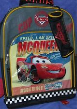 "Disney Pixar CARS McQueen 2006 Movie Backpack + Pencil Case New 15"""