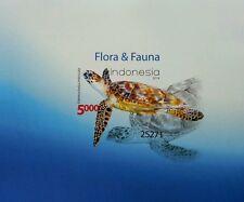 Indonesia Flora & Fauna 2014 Turtle Underwater Life Ocean Marine (imperf ms) MNH