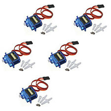 5PCS Mini SG90 SG90 9g Micro Gear Servo For RC Helicopter Plane Boat Car Arduino