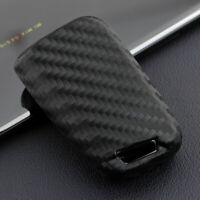 Carbon Fiber Flip Car Key Fob Chain Cover Case For VW Polo MK6  Golf/Golf R MK7