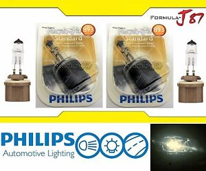 Philips Standard 893 37.5W Two Bulbs Fog Light Replacement Stock Lamp Plug Play