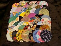 "100  Pre-Cut Die Cut Quilting Crafting 2 1/2"" Fabric Circles Appliques Cut Outs"