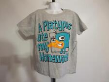 New Disney Phineas and Ferb A Platypus Ate My Homework Youth Small S (6-7) Shirt