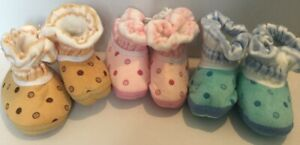 Newborn Baby Booties / Shoes/ Pink/ Yellow/ Blue/ Soft / Winter/ 0-3 Months old