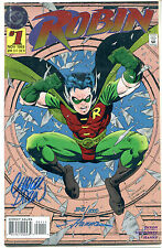 "COLLECTIBLE DC ""Robin"" #1, Dixon & Hanna signed 1993 comic book"