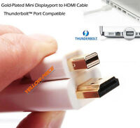 6FT White Mini DisplayPort to HDMI Male Adapter cable MDP Mini Display Port 6 FT