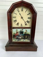Antique Seth Thomas Mantel clock glass front w Key