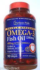 Double Strength Omega 3 Fish Oil 1200mg 600mg EPA DHA Heart Health Softgels Pill